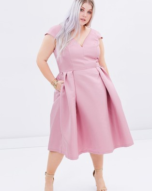 Chi Chi Curve – May Dress – Dresses (Pink)