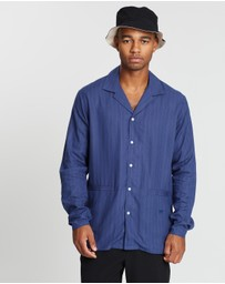 Soulland - Starling Striped Bowling Shirt