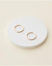 Michael Hill - 12mm Sleeper Earrings in 10ct Yellow Gold