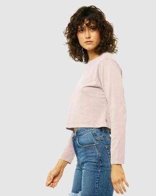 Rusty - Worldwide Crop Long Sleeve Tee - Long Sleeve T-Shirts (BR1) Worldwide Crop Long Sleeve Tee