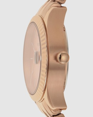 Fossil Micro Scarlette Rose Gold Tone Analogue Watch - Watches (Rose Gold-Tone)