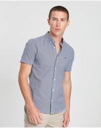 Burton Menswear - Short Sleeve Gingham Oxford Shirt
