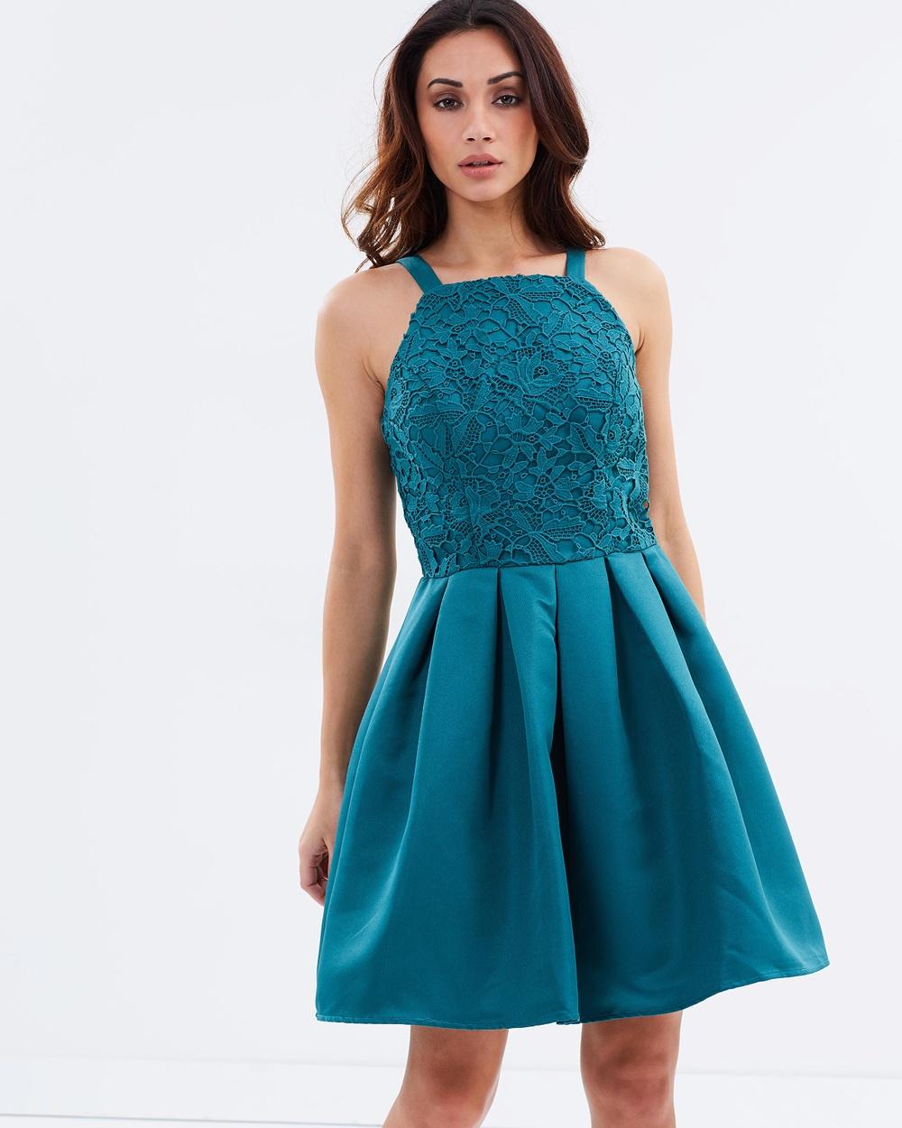 Chi Chi London Vaughan Dress Dresses Teal Vaughan Dress