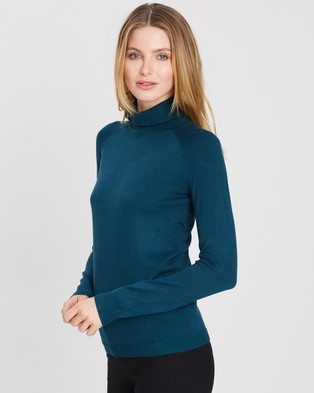 Forcast Clarisse Turtleneck Sweater - Jumpers & Cardigans (Teal)
