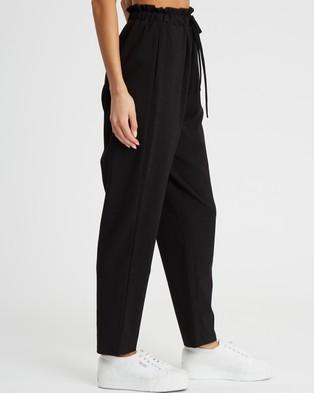 Calli Paper Bag Trousers - Pants (Black)