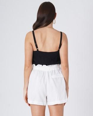 Amelius Sahara Shorts - High-Waisted (White)