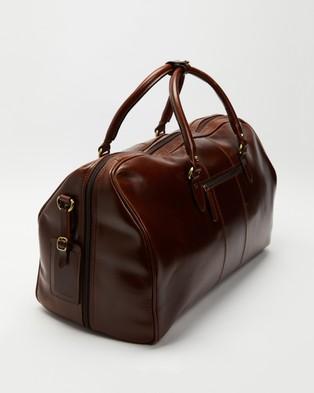 Double Oak Mills Wilbur Leather Weekender - Bags (Brown)