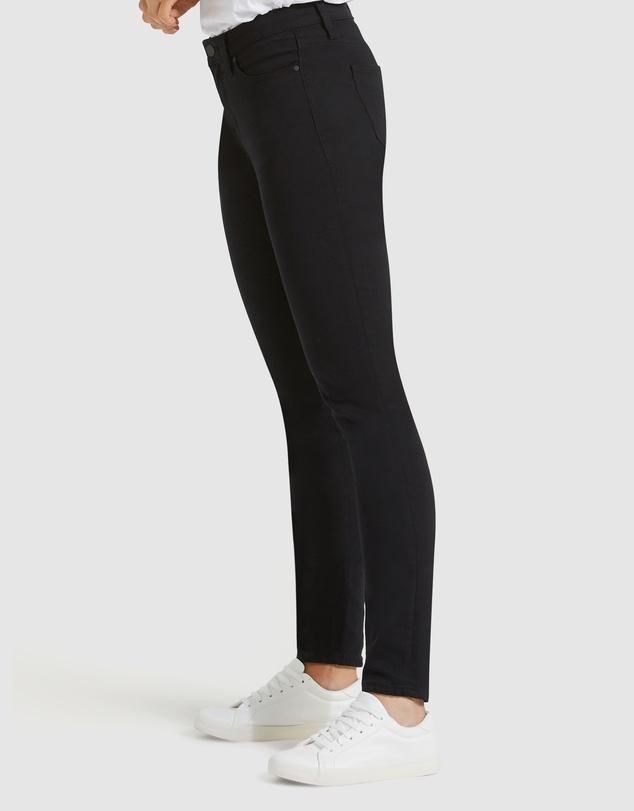 Women Skinny Jeans Black Night