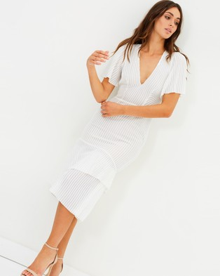 Talulah – Immediacy Midi Dress – Bodycon Dresses White