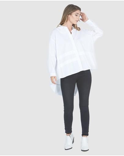 Faye Black Label Boyfriend Shirt White