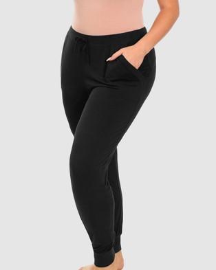 B Free Intimate Apparel Bamboo Draped Lounge Pants - Sleepwear (Black)