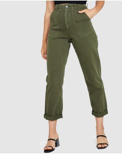 Neon Hart Strummer Utility Pants Green