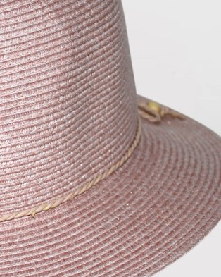 BeforeDark - Avoca Flexibraid Fedora Hats (Old Rose)