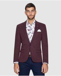 yd. - ZAPPA STRETCH BLAZER - BURGUNDY - S