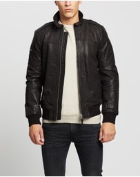 Superdry - Aviator Leather Jacket