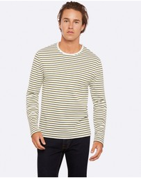 Oxford - Parker Striped Crew Neck T-Shirt