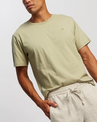 AERE Relaxed Organic A Tee - T-Shirts & Singlets (Sage)