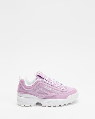 Fila Disruptor II Glimmer   Teens - Lifestyle Sneakers (Pink, Pink & White)