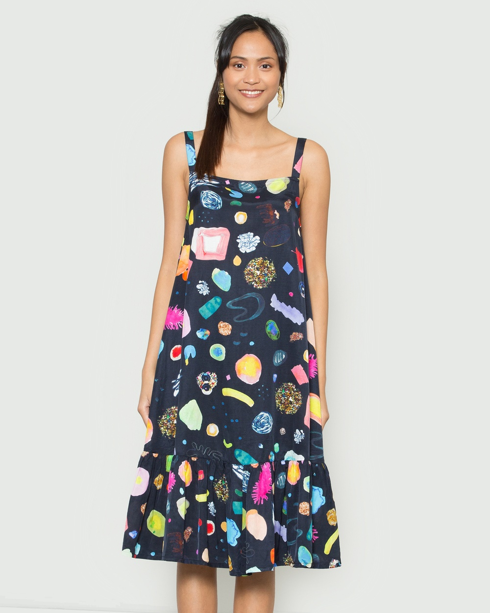 Gorman Multi Scribbles Glitter Dress