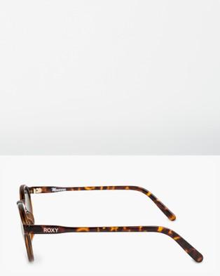 Roxy Womens Moanna Sunglasses - Sunglasses (SHINY TORTOISE/GREEN)