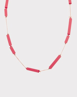 Florence Broadhurst Steps Essential Resin Necklace - Jewellery (Pink)
