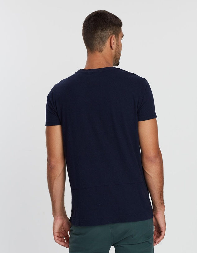 Scotch & Soda - Ams Blauw Clean And Boxy Fitted Graphic Tee