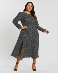 Atmos&Here Curvy - Peri Animal Midi Dress