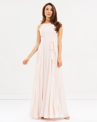Esther – Carnation Pleated Dress – Bridesmaid Dresses Blush