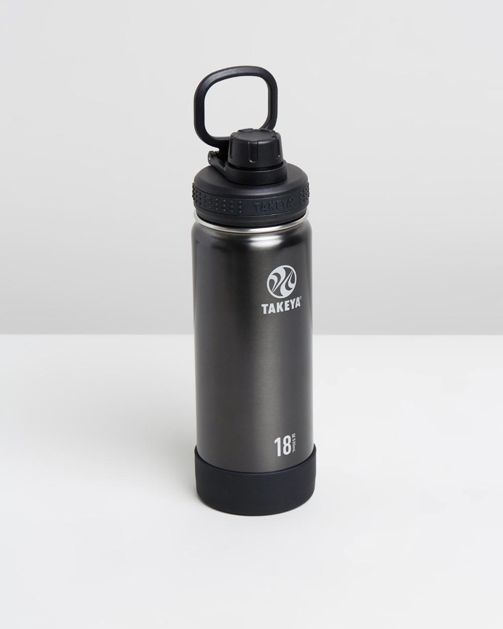 TAKEYA 530ml Insulated Stainless Steel Bottle 18oz Water Bottles Slate