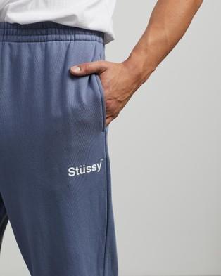 Stussy Text Fleece Trackpants - Sweatpants (Dusty Blue)