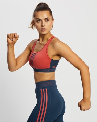adidas Performance Don't Rest 3 Stripes Bra - Crop Tops (Crew Red & Crew Navy)