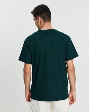 Carhartt SS Chase T Shirt - T-Shirts & Singlets (Bottle Green & Gold)