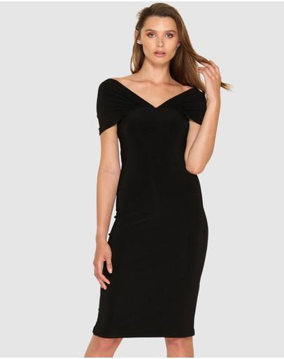 Sacha Drake Carmen Slip Dress Black