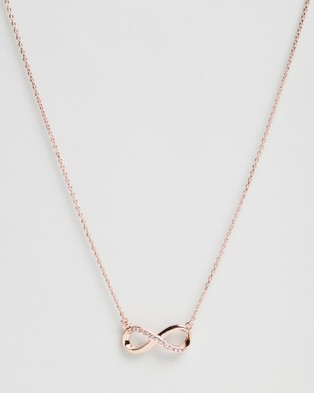 Mestige Infinity Set with Swarovski Crystals - Jewellery (Rose Gold)