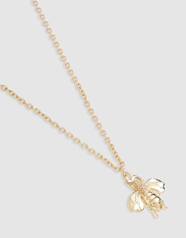 Women Honey Bee Gold Pendant Necklace