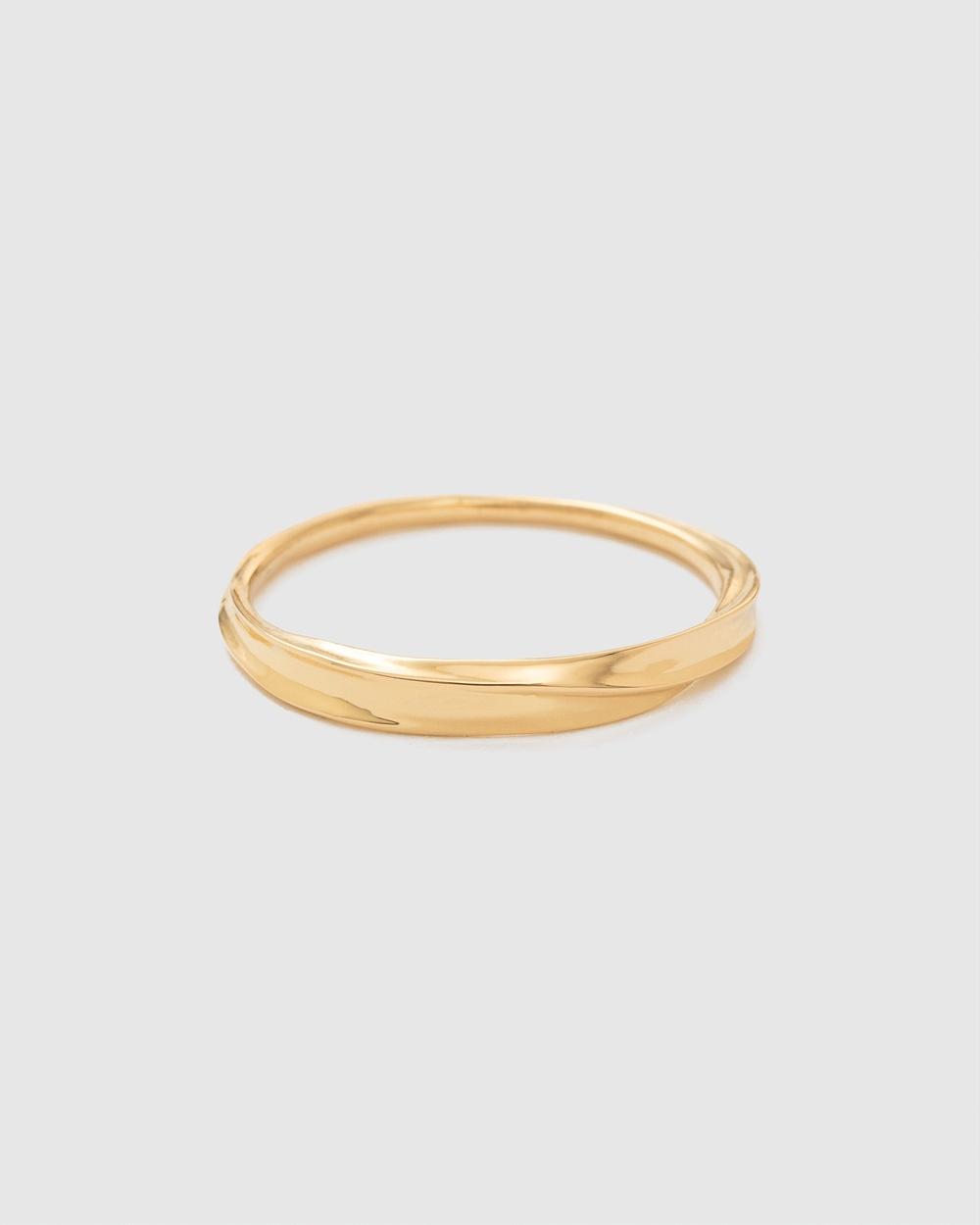 Kirstin Ash Intertwine Stacking Ring Jewellery Gold