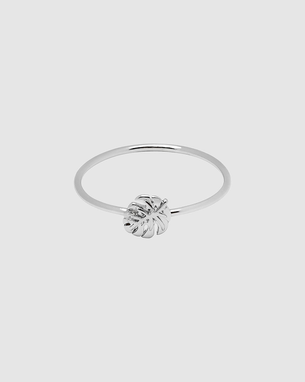 Dear Addison Tropical Palm Ring Jewellery Silver