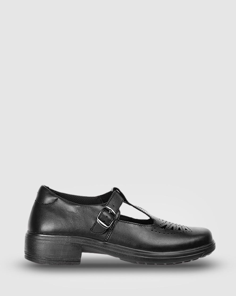 Ascent Eve School Shoes Black
