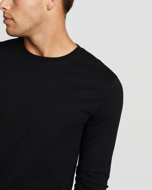 AERE Organic Cotton Heavy Crew Tee - T-Shirts & Singlets (Black)