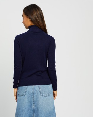 Forcast Clarisse Turtleneck Sweater - Jumpers & Cardigans (Navy)