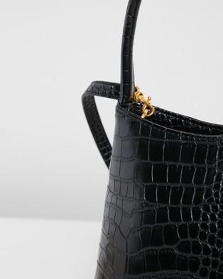 Brie Leon The Chloe - Handbags (Black Matte Croc)