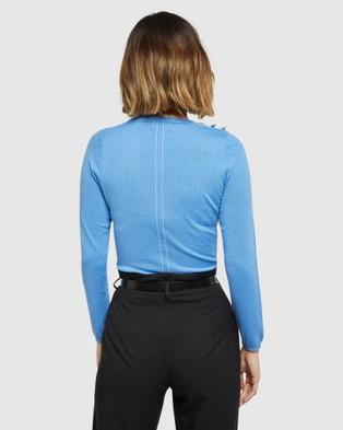 Oxford Tatiana Long Sleeve Knit - Tops (Blue)