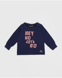 Rock Your Baby - Hey Ho Baby Long Sleeve Tee - Babies