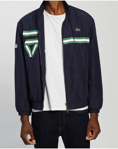 Lacoste Heritage Polyester Jacket Dark Navy Blue
