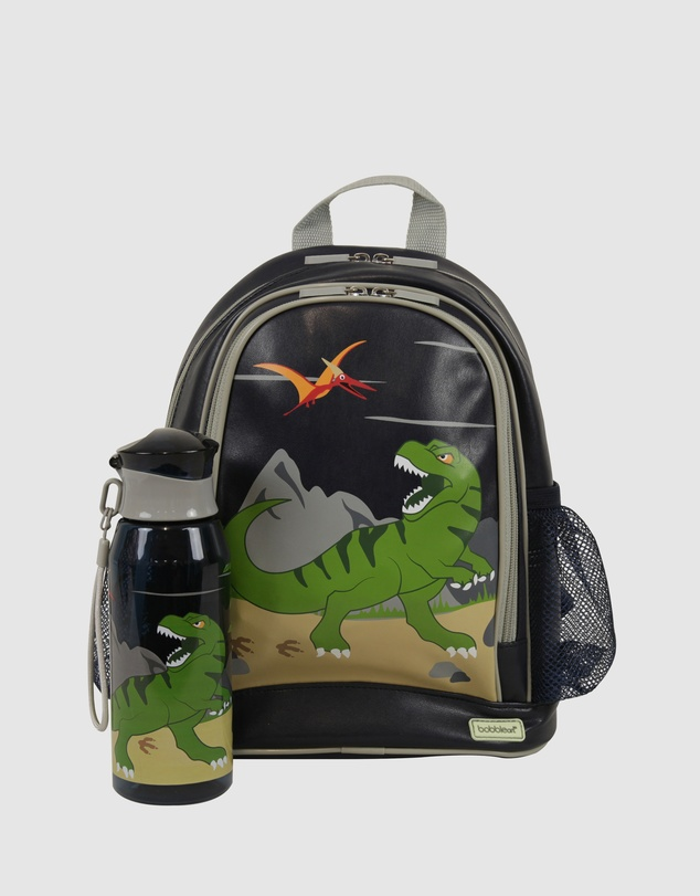 Bobbleart - Small Backpack and Drink Bottle Pack Dinosaur