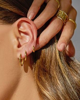 Arms Of Eve Shia Gold Huggies Jewellery Gold