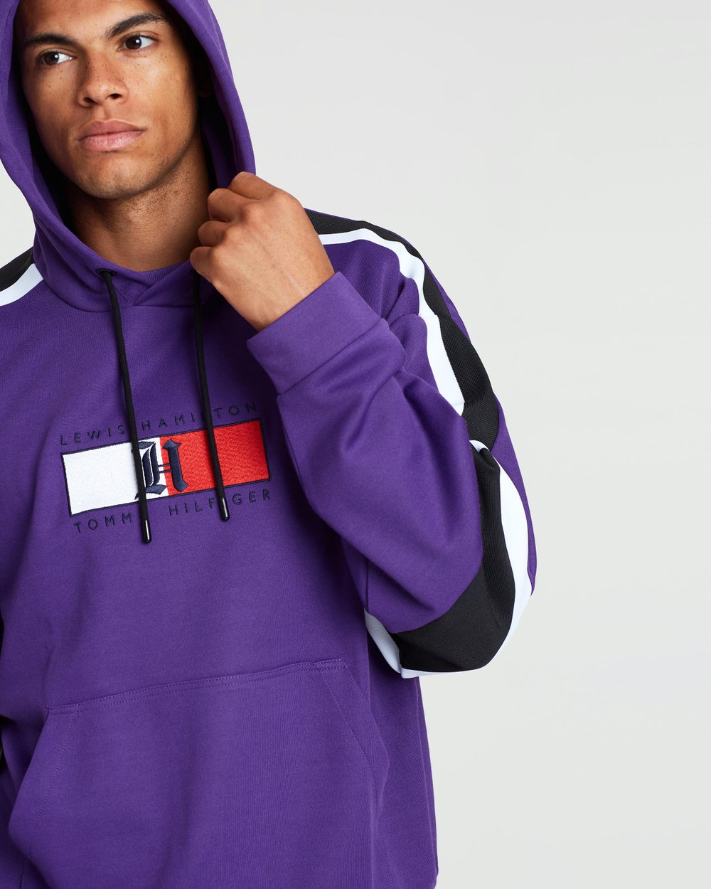 2bc712816 Lewis Hamilton Stripe Tape Graphic Hoodie by Tommy Hilfiger Online | THE  ICONIC | Australia