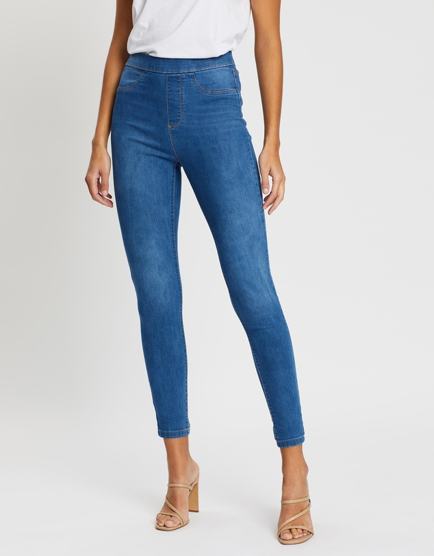 Dorothy Perkins - Mid-Wash High-Waist Eden Jeans