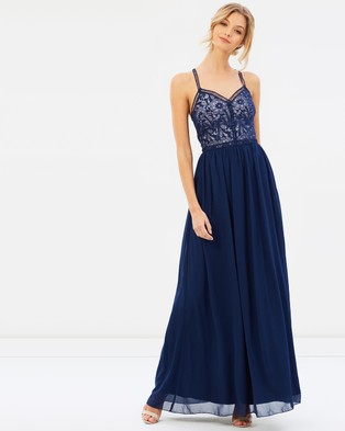 Chi Chi London – Danika Dress – Bridesmaid Dresses (Navy)