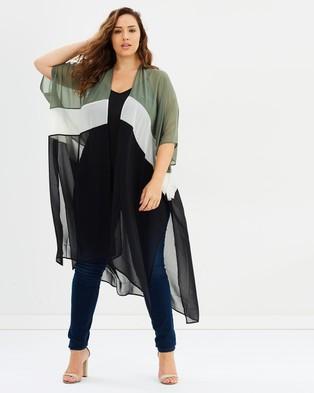 Skye – Joelle Cover Up – Swimwear Olive, Black & White